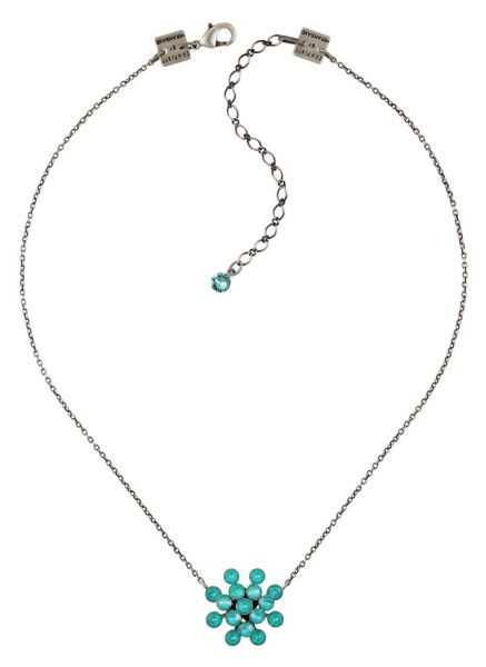 Konplott Magic Fireball Halskette in water turquoise crystal laguna de lite 5450543852614