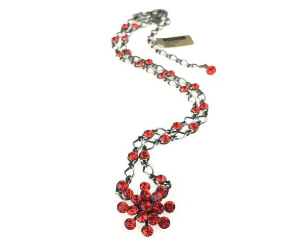 Konplott Magic Fireball Halskette steinbesetzt mit Anhänger in hyacinth, orange/rot 5450527640350