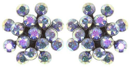 Konplott Magic Fireball Mini Ohrring Ohrstecker Aurora Borealis in blau/lila 5450543892603