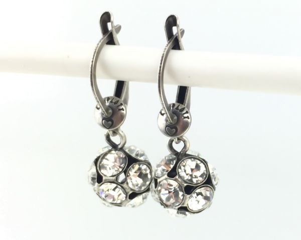 Konplott Disco Balls crystal Ohrhänger mit längl. Verschluss 5450527597005