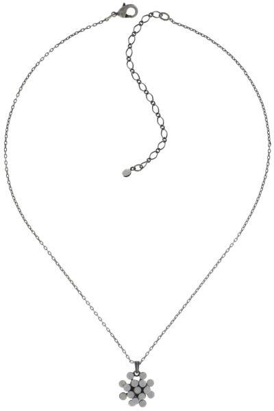 Magic Fireball Halskette mit Anhänger Mini in weiß/grau opal