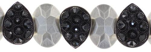 Konplott Tears of Joy Armband in schwarz jet hematite Größe M 5450543763163