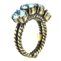 Konplott Colour Snake Ring in Aquamarine, hellblau 5450527257114