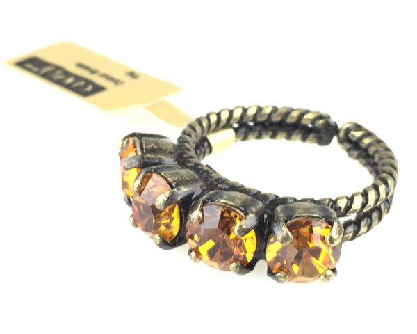 Konplott Colour Snake Ring in Topaz, gelb/braun 5450527122191