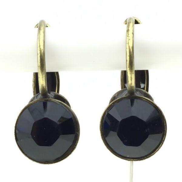 Konplott Black Jack Ohrhänger mit Klappverschluss in dark indigo, dunkelblau 5450527641524