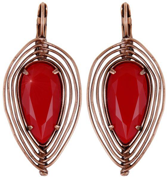 Konplott Amazonia Ohrhänger in rot, Größe - Rückläufer, wie neu 5450543753317-g
