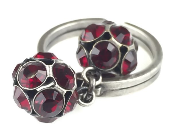 Konplott Disco Balls Ring in siam rot mit 2 Kugeln 5450527597326