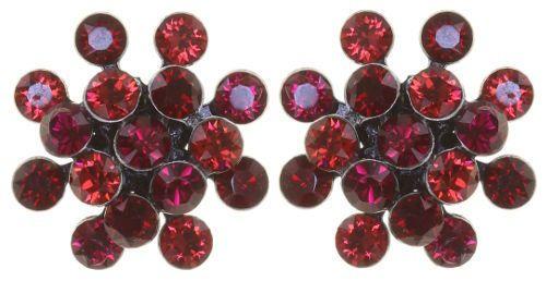 Konplott Magic Fireball Mini Ohrring Ohrstecker Rubinic Red *Neu: Fassung aus Titan 5450543892917