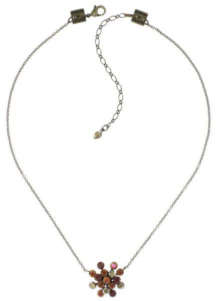 Konplott Magic Fireball Halskette Amber Love klassisch in rötlich-braun 5450543893648