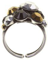 Konplott Petit Glamour Ring Meteor in schwarz/braun 5450543880075