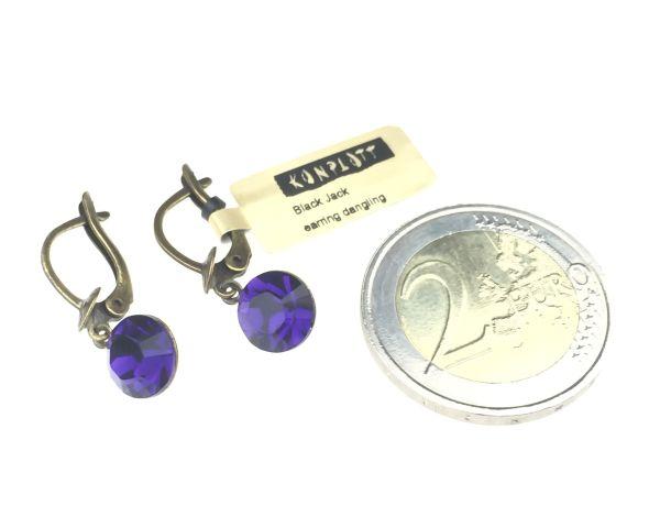 Konplott Black Jack Ohrhänger mit längl. Verschluss in Purple Velvet 5450527591782