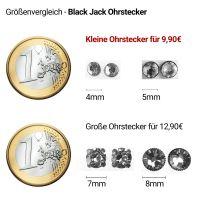 Vorschau: Konplott Black Jack Ohrstecker klein in kristall gold 5450527263573