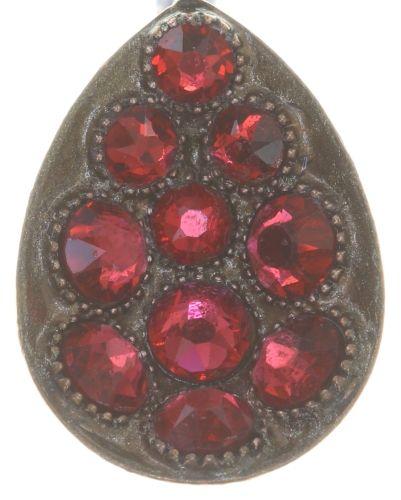 Konplott Tears of Joy Ohrhänger in coralline scarlet rot Größe M 5450543763620