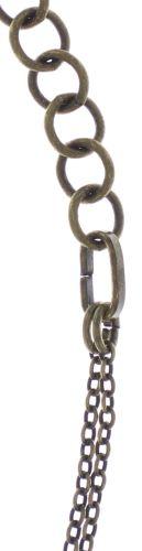 Konplott Psychodahlia Halskette mit Anhänger in gelb Messing 5450543730424