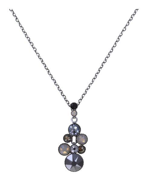 Konplott Water Cascade Halskette in Silver Carbon schwarz 5450543907581