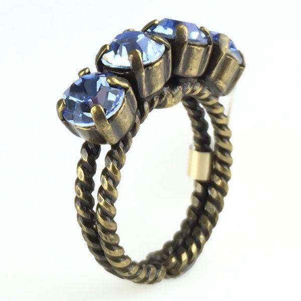 Konplott Colour Snake Ring in Light Sapphire, hellblau 5450527640909