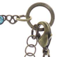 Vorschau: Konplott Festival Anklet Fußkette in blau/grün Messing 5450543747415