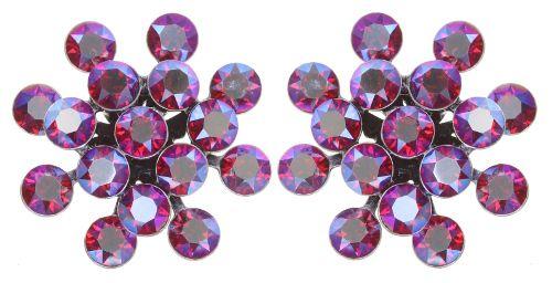 Konplott Magic Fireball Ohrstecker klassisch in clubbing rot siam shimmer 5450543852744
