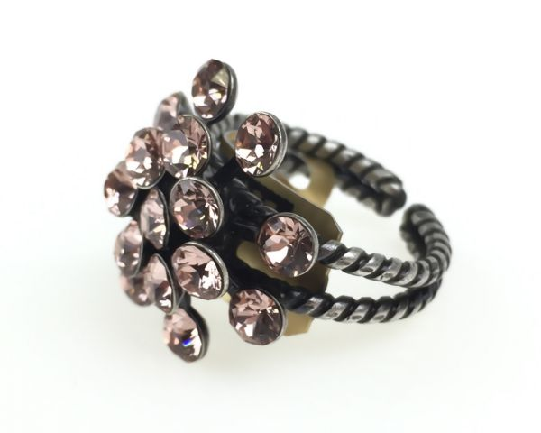 Konplott Magic Fireball 16 Stein Ring in vintage rose 5450527611961