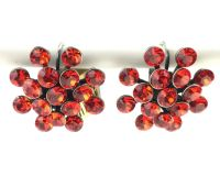 Vorschau: Konplott Magic Fireball Ohrhänger mit Klappverschluss in hyacinth, rot/orange 5450527640381