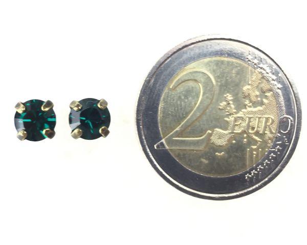 Konplott Black Jack Ohrstecker eckig in Emerald, dunkelgrün 5450527123860