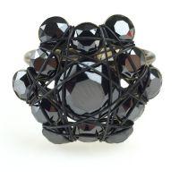 Bended Lights Ring in Schwarz