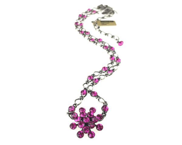 Konplott Magic Fireball Halskette steinbesetzt mit Anhänger in fuchsia 5450527611848