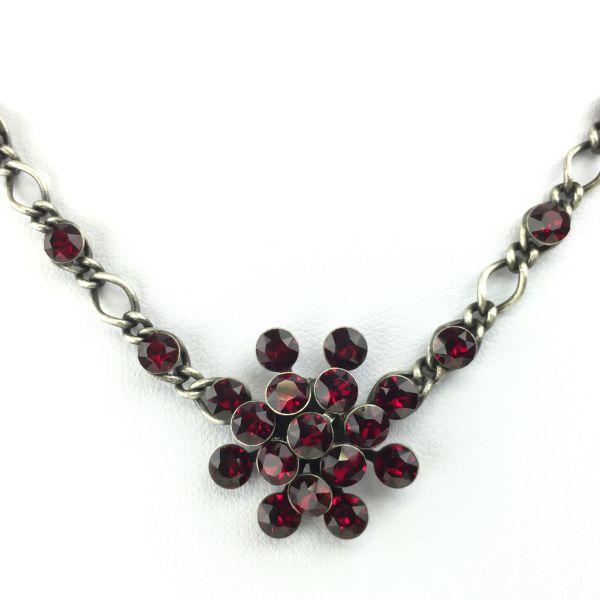 Konplott Magic Fireball Halskette steinbesetzt mit Anhänger in siam, dunkelrot 5450527640435