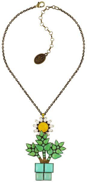 Konplott Sunflower Halskette mit Anhänger in gelb/weiß/grün Größe L 5450543737539