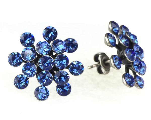 Konplott Magic Fireball Ohrstecker klassisch in sapphire, blau 5450527611749