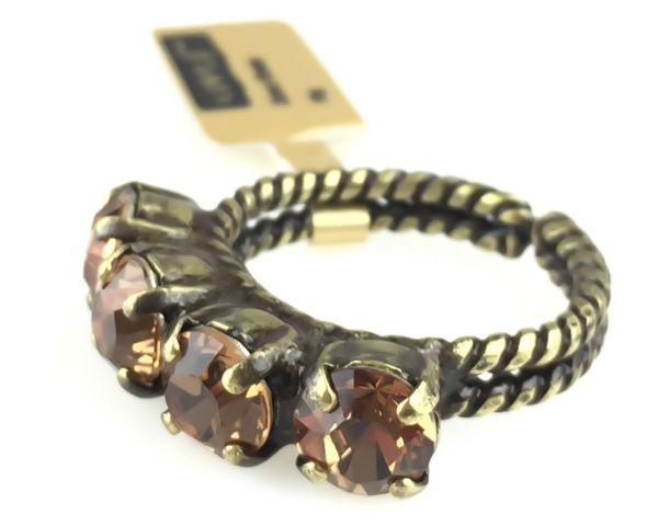 Konplott Colour Snake Ring in Light Smoked Topaz, hellbraun 5450527257077