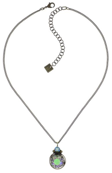 Konplott Boho Twist Halskette in grün/lila crystal paradise shine 5450543772035