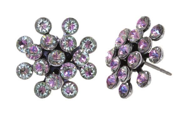Konplott Magic Fireball Ohrstecker in white/light rose crystal vitrail light mini 5450543915142
