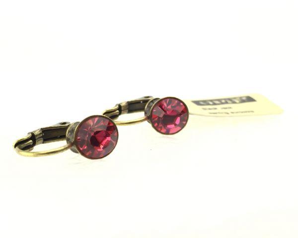 Konplott Black Jack Ohrhänger mit Klappverschluss in indian pink, pink/rot 5450527612326