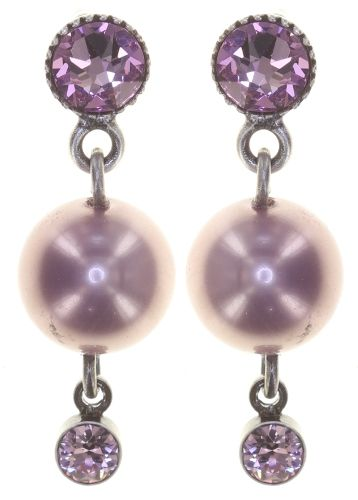 Pearl Shadow Ohrstecker in pink light amethyst