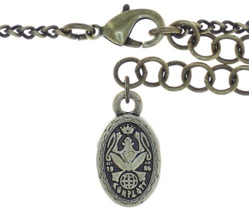 Konplott Snow White Halskette mit Anhänger in blau/grün Größe M 5450543757902