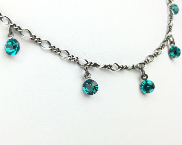 Konplott Tutui blue zircon Halskette steinbesetzt 5450527591560
