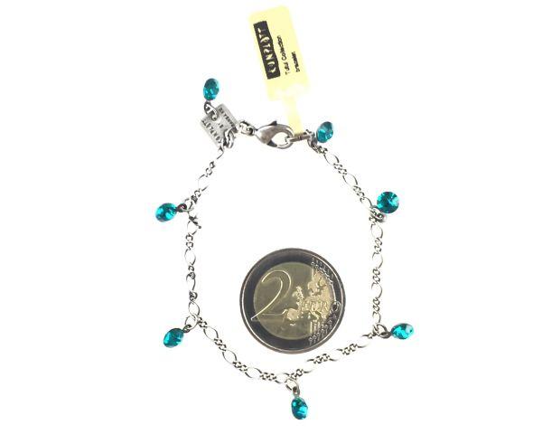 Konplott Tutui blue zircon Armband verschließbar, dunkeltürkis 5450527591577