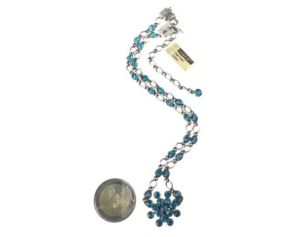 Konplott Magic Fireball Halskette steinbesetzt mit Anhänger in indicolite 5450527640190