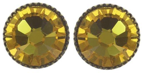 Konplott Black Jack Ohrstecker klassisch groß in yellow sunflower 5450543278292