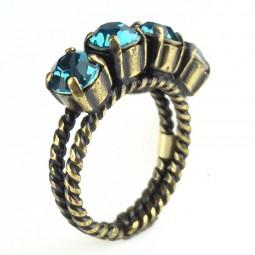 """Konplott """"Colour Snake"""" Ring in Indicolite"""
