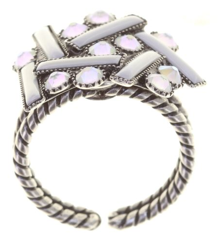 Konplott Graphic Flow Ring weiß antique 5450543867649