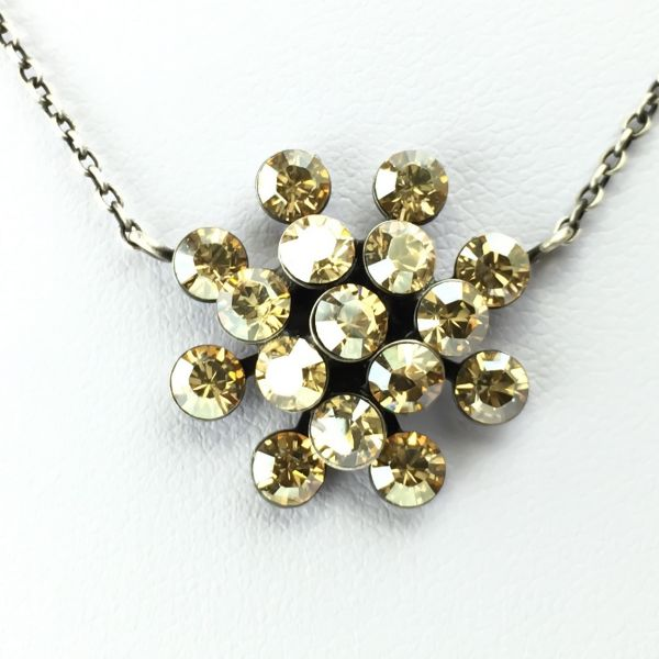 Magic Fireball Halskette mit Anhänger in crystal golden shadow