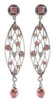 Vorschau: Konplott Cages Ohrhänger in beige/pink Silberfarben 5450543741260