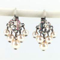 Konplott Pearl Shadow crystal 5 Perlen Ohrhänger mit Klappverschluss 5450527444552