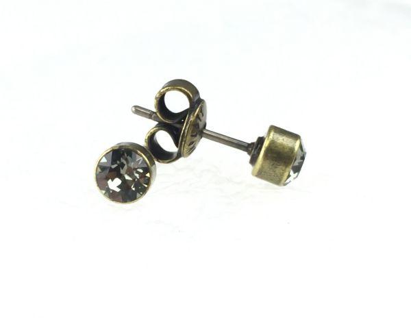 Konplott Black Jack Ohrstecker klassisch rund klein in Black Diamond 5450527266512