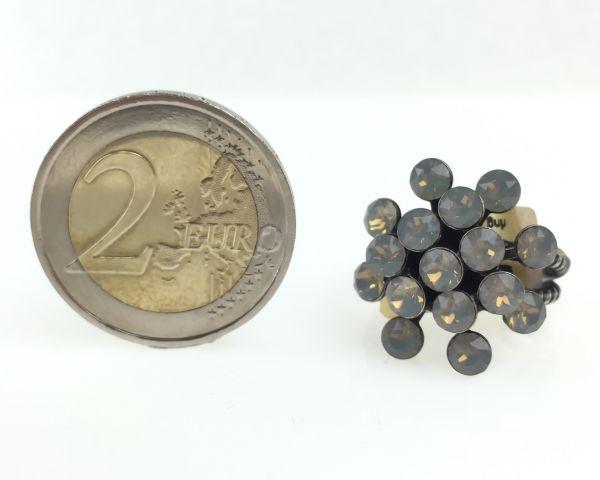Konplott Magic Fireball 16 Stein Ring in light grey opal 5450527767415