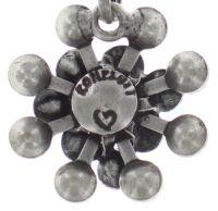 Vorschau: Konplott Magic Fireball Halskette mit Anhänger Mini in weiß/grau opal 5450543727486
