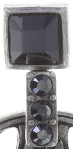 Konplott Rosone Ohrstecker hängend Größe S in schwarz 5450543654454