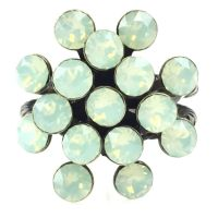 Vorschau: Konplott Magic Fireball chrysolite grün opal 16 Stein Ring 5450543133690